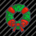 christmas, new year, wreath, xmas