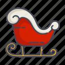 christmas, new year, santa, sleigh