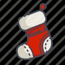 christmas, new year, sock, stocking icon