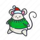 christmas, mouse, new year, rat