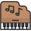 grand, instrument, keyboard, keys, multimedia, music, piano icon
