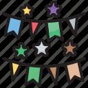 bunting, christmas, decoration, festival, garland, paper, sheet