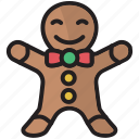 christmas, cookie, gingerbread, gingerbread man, man, snow, xmas icon