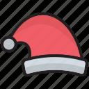 cap, christmas hat, claus, frost, hat, santa, santa hat icon