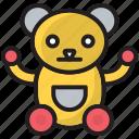 bear, brown, kid, play, teddy, teddy bear, toy