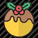 cake, christmas, festival, new year, pudding, tree, xmas icon