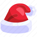 winter, claus, santa hat, fashion, hat, santa, christmas icon