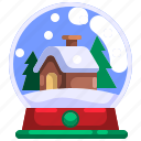 globe, ornament, decoration, tree, christmas, snow