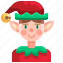 elf, costume, christmas, avatar, fantasy, people