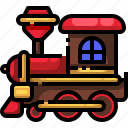 cargo, invention, locomotive, railway, toy, train, transportation icon