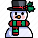 christmas, snow, snowman, winter
