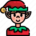 avatar, christmas, costume, elf, fantasy, people icon