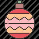 ball, celebration, christmas, decoration, festive, holiday, winter icon