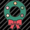celebration, christmas, decoration, festive, holiday, winter, wreath icon