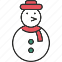 celebration, christmas, decoration, festive, holiday, snowman, winter icon