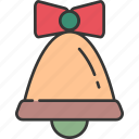 bell, celebration, christmas, decoration, festive, holiday, winter icon