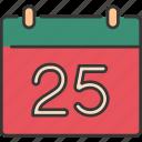 calendar, celebration, christmas, december, festive, holiday, winter icon
