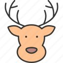 celebration, christmas, festive, holiday, reindeer, snow sled, winter icon