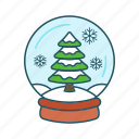 accessories, christmas, globe, snow, snowball, toy, winter icon icon