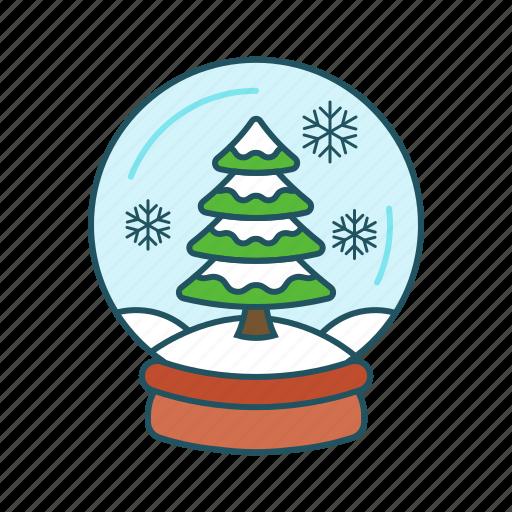accessories, christmas, globe, snow, snowball, toy, winter icon icon