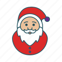 christmas, claus, grandpa, santa icon