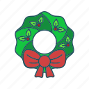 christmas, holiday, santa, wreath icon icon