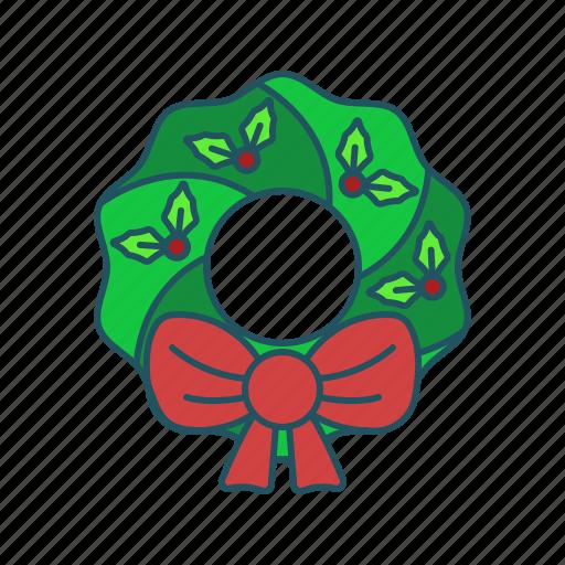christmas, holiday, santa, wreath icon icon