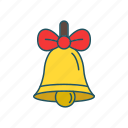 bell, decoration, holidays, winter icon icon
