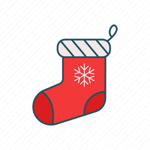 christmas, girt, sock, wear icon