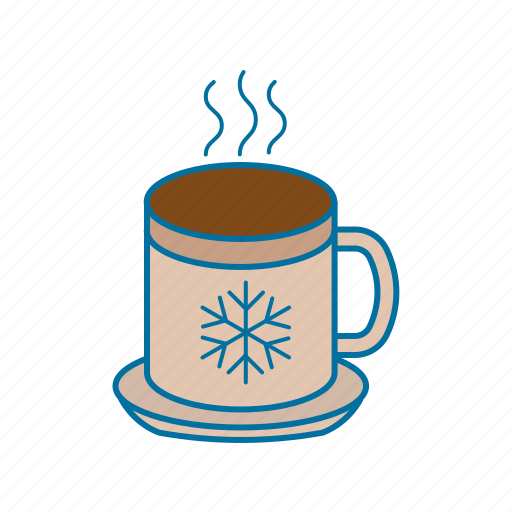christmas, cup, drink, hot, hot coffee, winter icon icon