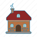 christmas, family, holiday, house, warm icon icon