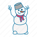 bucket, carrot, christmas, game, snowman, winter icon icon
