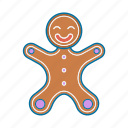 christmas, cookie, gingerbread, guy, holiday, xmas icon icon