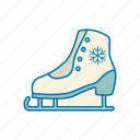 christmas, holidays, ice, skate, snow, winter icon icon