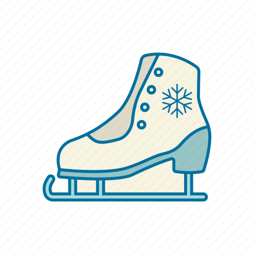 christmas, holidays, ice, skate, snow, winter icon icon