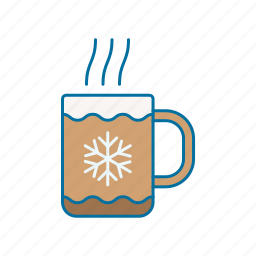 christmas, coffee, drink, hot icon