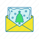 christmas, envelope, gift, postcard icon