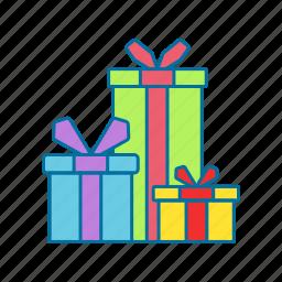 box, christmas, gift, presents icon