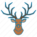 animal, christmas, deer, deer icon icon