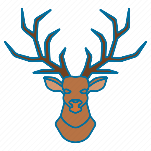 animal, christmas, deer, deer icon icon