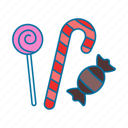 candy, christmas, stick, sweet icon