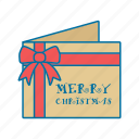 christmas, gift, paper, postcard icon icon