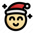 christmas, emoji, emoticon, happy, happyness, santa claus, smile icon