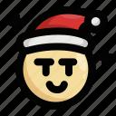 christmas, emoji, emoticon, malicious, santa claus, seductive, wink