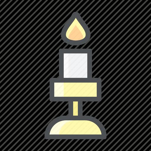 candle, christmas, decoration icon