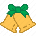 bell, christmas, christmas bell, decoration icon
