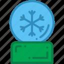 christmas, christmas ball, crystal ball, decoration icon
