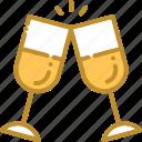 cheers, cheers glass, christmas, wine