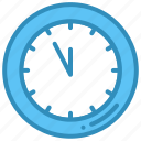christmas, clock, time, wall clock icon