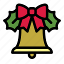 bell, christmas, decoration, holiday, merry, mistletoe, xmas icon